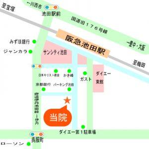 関西カイロプラクティック周辺地図