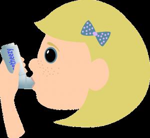 喘息の吸入器